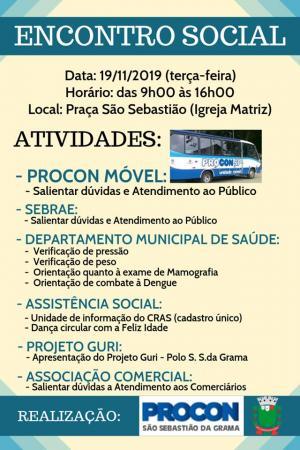 PROCON  de Grama convida à todos para o Encontro Social