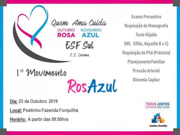 ESF Sul S. S. Grama promove o 1º Movimento RosAzul.