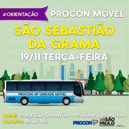 Procon Movel em Grama realizará atendimento na Praça São Sebastião