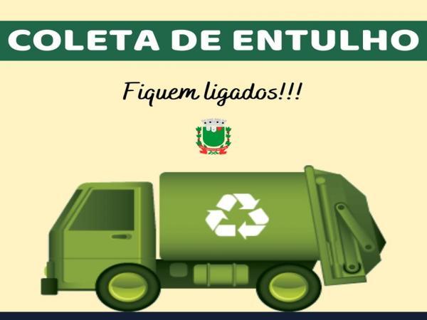 COMUNICADO :  Prefeitura realiza coleta de resíduo arbóreo (ENTULHO)