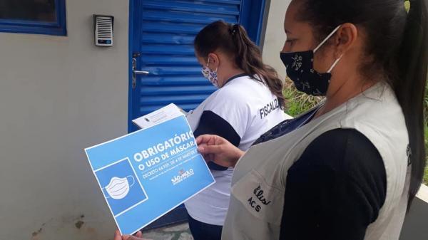 Patrulha Sanitária intensifica as ações de enfrentamento ao Covid-19 no Unenorte e no Distrito Industrial