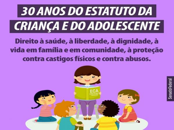 O Estatuto da Criança e do Adolescente (ECA) completa hoje 30 anos.