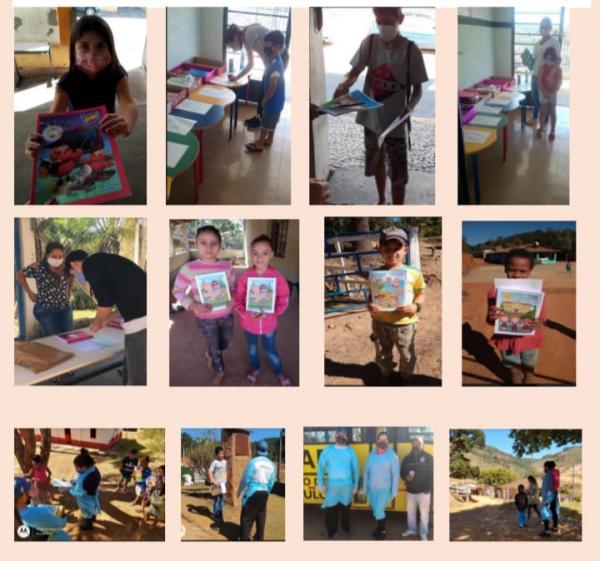 Rede Municipal de ensino recolhe atividades feitas e entregando novos materiais aos alunos