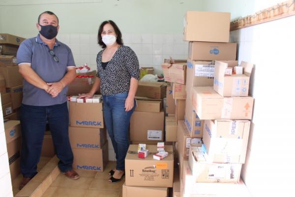 Prefeitura recebe doação de medicamentos