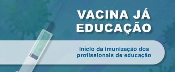 Profissionais da Educação serão vacinados no dia 12