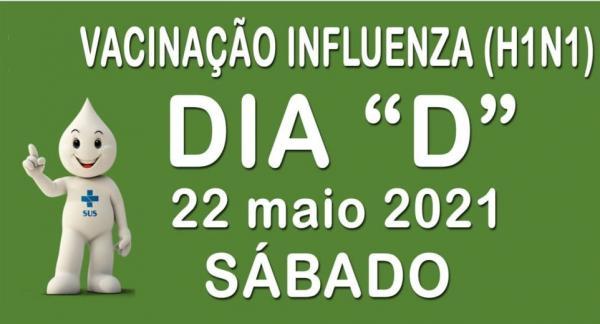 Sábado será o Dia D de vacinação contra gripe