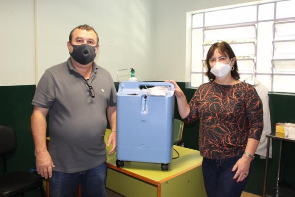 Município recebe equipamentos para serem usados no tratamento de pacientes com Covid
